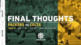 Packers at Colts | Final Thoughts
