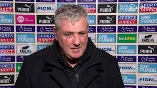 """""""Managing Newcastle comes with a health hazard!"""" Bruce after a thrilling game at St. James' Park"""