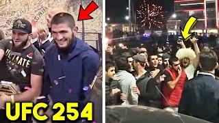 *WOW* DAGESTAN CELEBRATES KHABIB NURMAGOMEDOV LAST WIN vs GAETHJE- UFC 254 LIVE CROWD REACTIONS