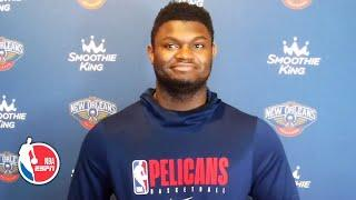 Zion Williamson talks minute restrictions, Pelicans' struggles in seeding games | NBA on ESPN