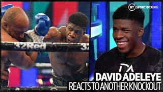 """""""I love fighting!"""" David Adeleye reacts to TKO win and Dubois, AJ and Fury comparisons"""