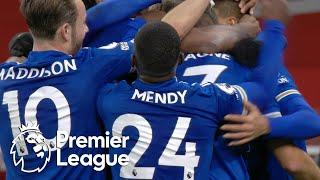 Jamie Vardy heads Leicester City into late lead against Arsenal | Premier League | NBC Sports