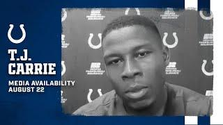 T.J. Carrie On His Versatility At Cornerback, High Level Practices