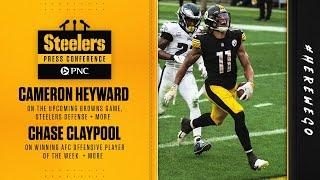 Steelers Press Conference (Oct. 14): Cameron Heyward, Chase Claypool