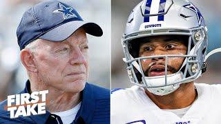 Should the Cowboys hold off on signing Dak Prescott to a long-term deal? | First Take