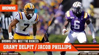 Grant Delpit and Jacob Phillips on Browns Live: Meet The Rookies | Cleveland Browns