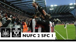 A LATE WINNER  Newcastle United 2 Southampton 1: Brief Highlights