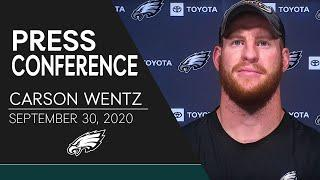 Carson Wentz Talks Fighting Through Adversity, Turnovers, & More | Eagles Press Conference