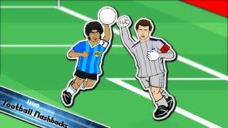 THE HAND OF GOD! (Argentina vs England World Cup 1986 Maradona Handball + Goal of the Century)