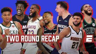 Recap of the first two rounds in the NBA Playoffs | NBA Highlights