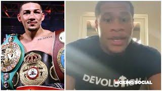 "DEVIN HANEY HITS BACK AT ""LIAR"" TEOFIMO LOPEZ/REACTS TO RYAN GARCIA WIN VS CAMPBELL & GERVONTA DAVIS"