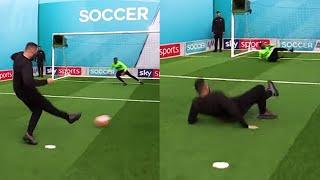 Tony Bellew hilariously slips over during Soccer AM Pro AM!