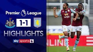 Late Elmohamady equaliser rescues vital point for Villa | Newcastle 1-1 Aston Villa | EPL Highlights