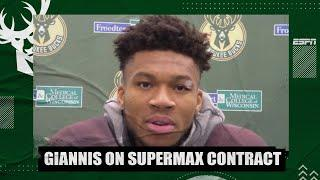 Giannis on why he signed a 5-year/$228M supermax extension with the Bucks | NBA on ESPN