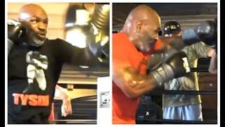 MIKE TYSON ERUPTS ON THE PADS! - (NEW VIDEO) - SHOWS FEROCIOUS POWER & SPEED - THE COMEBACK IS ON!