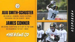 Steelers Press Conference (Sept. 11): JuJu Smith-Schuster, James Conner | Week 1 vs New York Giants