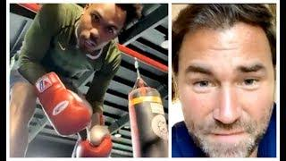 EDDIE HEARN ATTEMPTS TO TAUNT JERMALL CHARLO ON BIZARRE LIVE VIDEO - AS THE PAIR HAVE IT OUT