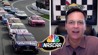 NASCAR America: How rain influenced tire strategy at Charlotte Roval | Motorsports on NBC