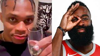 Russell Westbrook Reacts After News He Requested A Trade AWAY From Harden, Rockets Breaks Internet