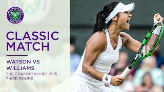 Serena Williams vs Heather Watson | Wimbledon 2015 third round | Full Match