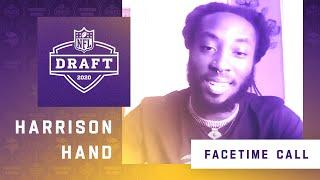 FaceTime Call With Minnesota Vikings Fourth Round NFL Draft Pick Harrison Hand