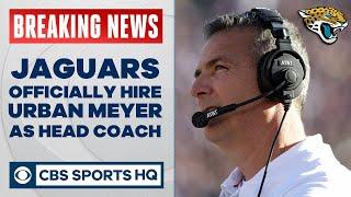Jaguars OFFICIALLY HIRE Urban Meyer as new head coach | CBS Sports HQ