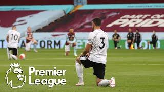 Aston Villa, Sheffield United players kneel after opening whistle | Premier League | NBC Sports