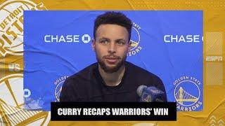 Steph Curry talks Warriors' win vs. Pistons, postgame interview with Klay Thompson | NBA on ESPN