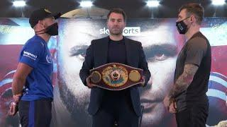 'I HAVE NOTHING AGAINST YOU' -  BILLY JOE SAUNDERS TOLD BY MARTIN MURRAY IN PRESSER W/ EDDIE HEARN