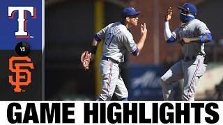 Joey Gallo, Shin-Soo Choo power Rangers past Giants | Rangers-Giants Game Highlights 8/2/20