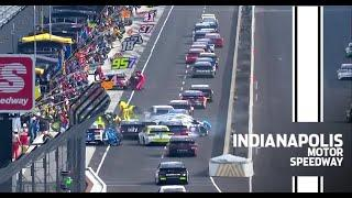 Back half of the field crashes on pit road early at Indy | NASCAR Cup Series