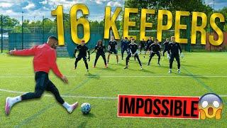 SHOOTING AGAINST 16 KEEPERS | IMPOSSIBLE CHALLENGE