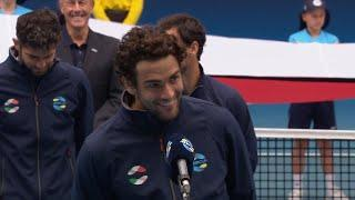 Team Italy on-court interview | Melbourne Summer Series 2021