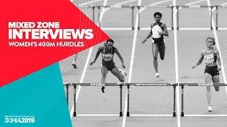 Women's 400m Hurdles Interviews | World Athletics Championships Doha 2019
