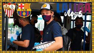 What it really is like to play behind closed doors | SEVILLA - BARÇA Vlog