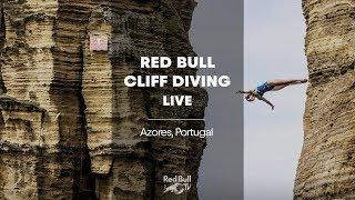 Diving from volcanic cliffs. | Red Bull Cliff Diving World Series 2018 LIVE Azores, Portugal