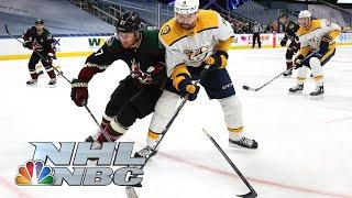 NHL Stanley Cup Qualifying Round: Predators vs. Coyotes | Game 3 EXTENDED HIGHLIGHTS | NBC Sports