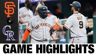 Brandon Belt lifts Giants with home run   Giants-Rockies Game Highlights 8/5/20