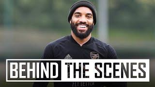 Tierney & Lacazette return to training   Behind the scenes at Arsenal training centre