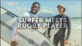 Pro Surfer Takes a Rugby Player For A Surf Session   w/ Siya Kolisi & Jordy Smith