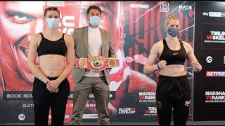 WORLD TITLE ON THE LINE! - SAVANNAH MARSHALL v HANNA RANKIN - OFFICIAL WEIGH-IN / USYK v CHISORA
