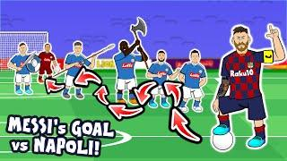 Lionel Messi's Goal vs Napoli (Champions League Parody Goals Highlights 2020)