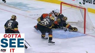 GOTTA SEE IT: Fleury Pulls Off Incredible Desperation Save At Goal Line