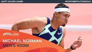 Michael Norman wins in Mt SAC   USATF Golden Games Continental Tour Gold