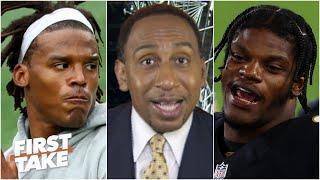 Cam Newton can't play like Lamar Jackson did vs. Mahomes & the Chiefs - Stephen A. | First Take