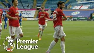 Bruno Fernandes penalty puts Man United ahead of Leicester City | Premier League | NBC Sports