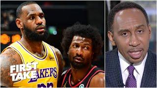 Solomon Hill responds after Lakers players accuse him of dirty play against LeBron | First Take