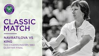Martina Navratilova vs Billie Jean King | Wimbledon 1980 Quarter-final | Full Match