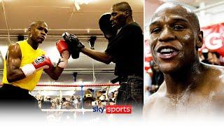 THROWBACK!  | When Floyd Mayweather was mobbed during his pad workout in London in 2009