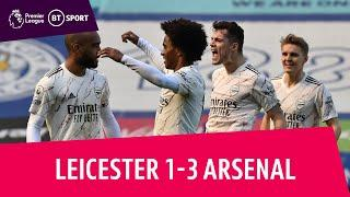 Leicester City 1-3 Arsenal |David Luiz sparks comeback! | Premier League highlights